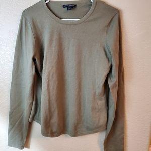 Banana Republic Silk Rabbit Hair Olive Sweater